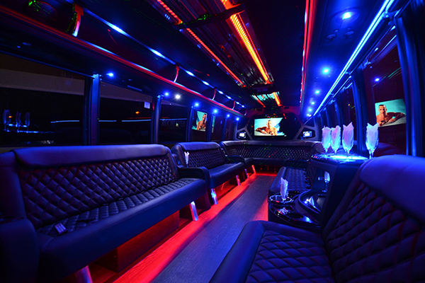 40 passenger party bus rental Greensboro
